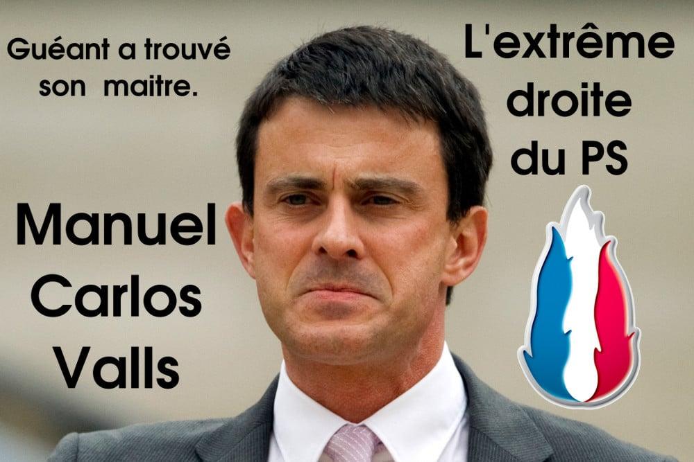 Manuel Carlos Valls à l'extrême droite du PS