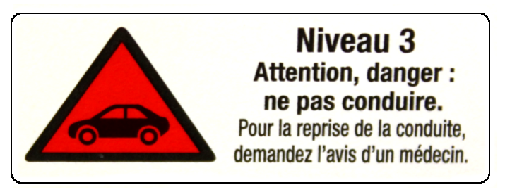 Attention danger : ne pas conduire